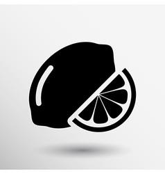 Sign Lemon logo unusual stylized slice agriculture vector