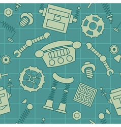 Smart robot parts and details pattern vector