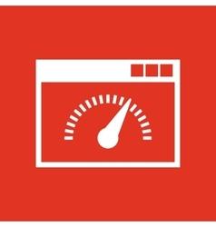 Speed internet test icon design Speed vector