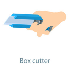 stationery knife icon isometric 3d style vector image