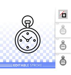 stopwatch simple black line icon vector image