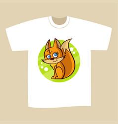 T-shirt print design squirrel vector