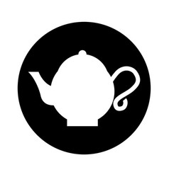 Teapot asian isolated icon vector