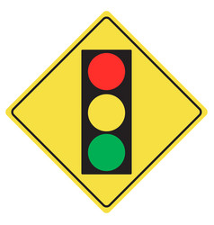 traffic light sign vector image