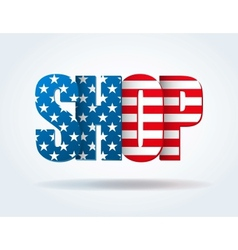 Typography Internet Logo USA shop vector