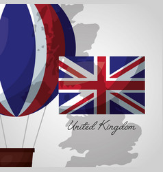 United kingdom places flag vector