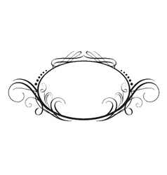 Vintage calligraphic frame vector