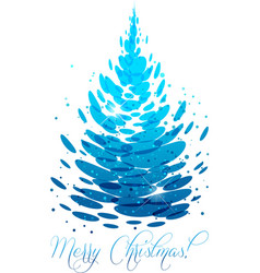 Water christmas tree vector