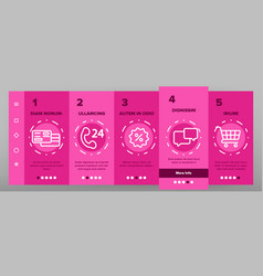 webshop online shopping linear onboarding vector image
