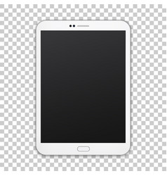 white tablet with empty screen isolated on vector image