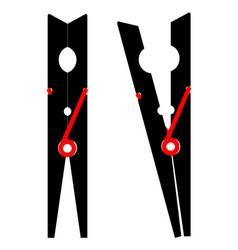 Wood cloths peg vector