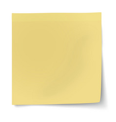 Yellow sticky note isolated on white vector
