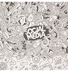 Cartoon doodles internet frame vector