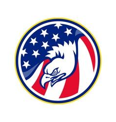 eagle flying american stars stripes flag vector image vector image