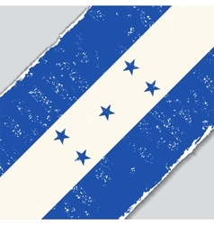 Honduras grunge flag vector image vector image