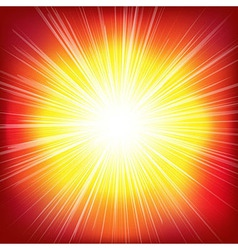 Red Burst Background vector image vector image