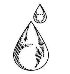 water drop sketch vector image