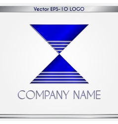 abstract blue and silver company name logo vector image vector image