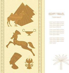 Ancient Egypt cards template vector image