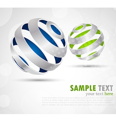 Background with abstract spheres vector image