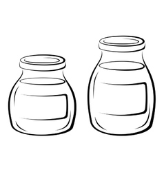 Glass Jars Black Pictograms vector image