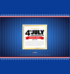 Independence day design element vector