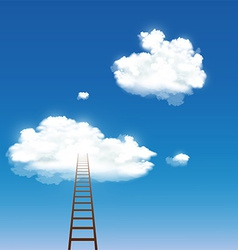 Staircase leading to the clouds vector