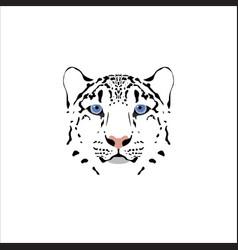 a snow leopard head vector image vector image
