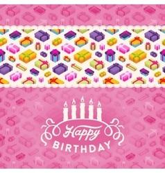 Birthday decorating design vector image vector image