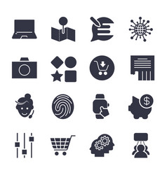 different simple icons for apps programs sites vector image vector image