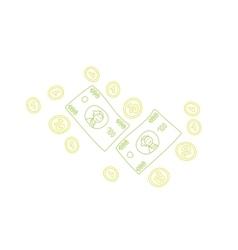 Doodle money elements vector image