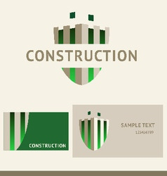 logo business card and cover for construction vector image
