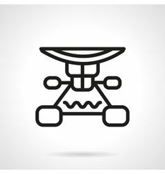 Longboard suspension black line design icon vector image