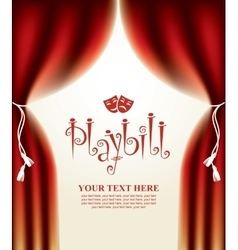 Playbill with scenic scenes vector