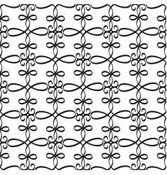 swirled black line decorative pattern vector image