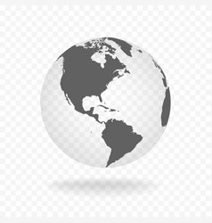 white gray globe glass transparent vector image vector image