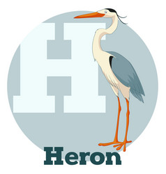 abc cartoon heron vector image