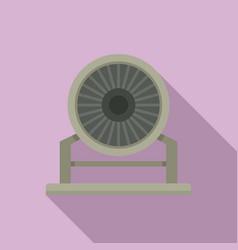 Aircraft repair turbine icon flat style vector