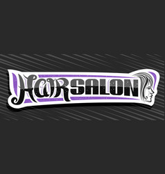 banner for hair salon vector image