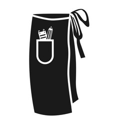 Barbers apron side icon simple style vector