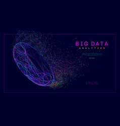 big data intelligence network web elements vector image