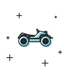 Black all terrain vehicle or atv motorcycle icon vector