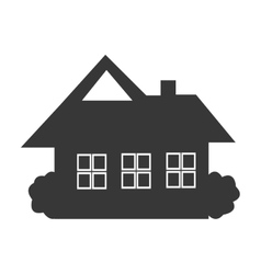 Black house icon front view graphic vector