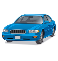 Blue car sedan vector