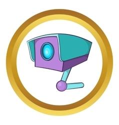 CCTV camera icon vector