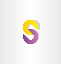 Chain letter s logo vector
