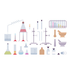 chemical laboratory equipment and instruments vector image