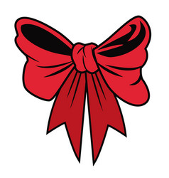Chrismtas decorative bow vector