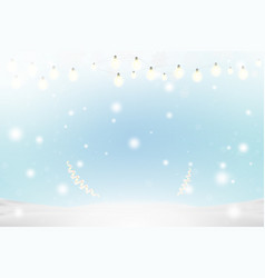 christmas and new year background with ribbon and vector image