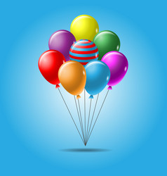 colorful balloon template vector image